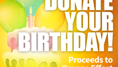 Donate Your Birthday Orange Effect Foundation